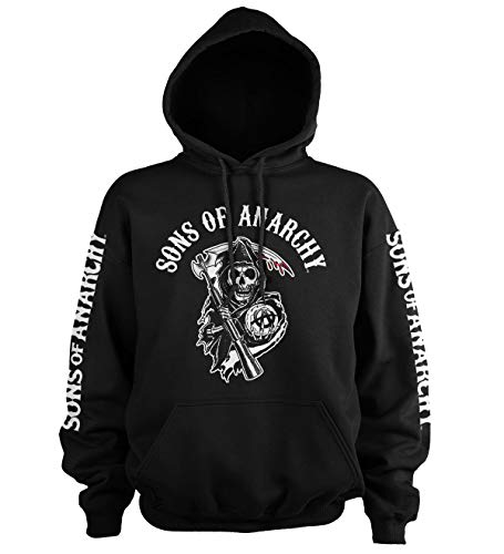 Sons of Anarchy Officially Licensed Logo Big & Tall Hoodie (Black) 4X-Large