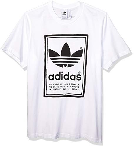 adidas Originals - Camiseta vintage para hombre - Blanco - Small