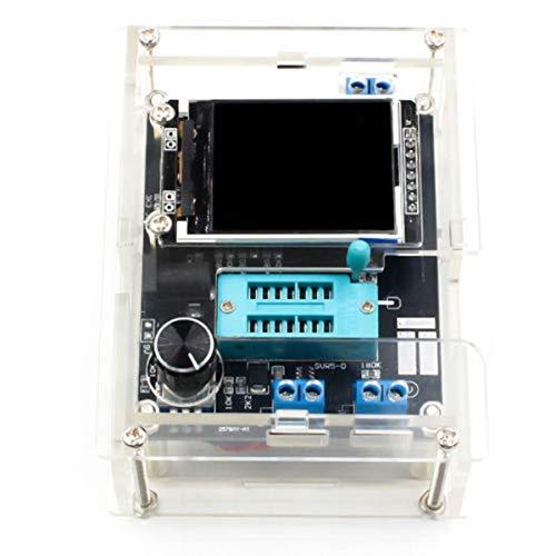 Greatangle-UK GM328 Transistortester-Kit Diodenkapazitäts-Spannungsmesser mit Acrylgehäuse Digitaler LCD-Display-Tester Mehrfarbig