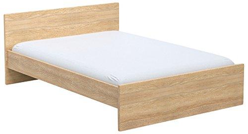INFINIKIT Haven Bett 140 x 200 cm - goldene  Eiche Optik