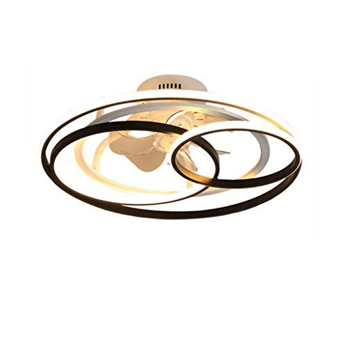 HGW Ventilador de Techo Ventilador de luz Mute Ventilador de araña de Techo LED Luz Ajustable Velocidad de Viento Dimmable Control Remoto Moderno LED Restaurante Distrito,58cm
