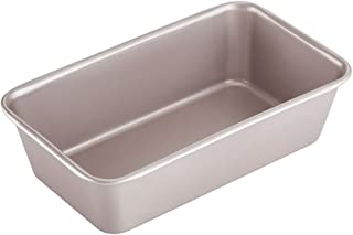 CHEFMADE 9-Inch Rectangle Loaf Pan, Non-Stick Oblong Bread and Meat Bakeware for Oven Baking (Champagne Gold)