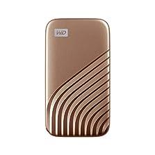 WD My Passport SSD 2 TB externe SSD (externe Festplatte mit SSD Technologie, NVMe-Technologie, USB-C und USB 3.2 Gen-2 kompatibel, Lesen 1050 MB/s, Schreiben 1000 MB/s) gold©Amazon