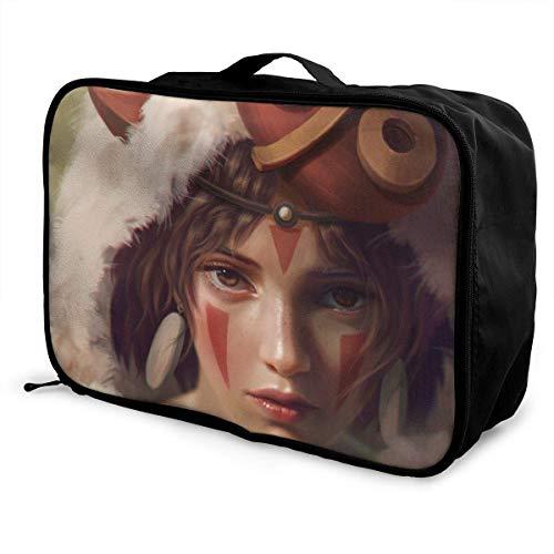 Princ Mononoke Travel Situation - Bolsa de viaje para mujeres, hombres y niños, impermeable, grande, ligera, portátil