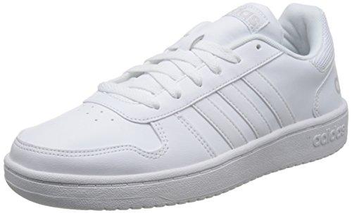 adidas Hoops 2.0, Zapatillas Hombre, Blanco (Footwear White/Footwear White/Grey 0), 43 1/3 EU