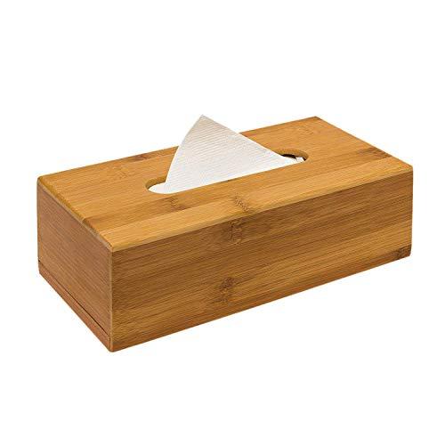 Nrpfell Bambus Box 7.5 x 24 x 12 cm kann fuer Papiertaschentuecher verwendet werden da papiertuchspender mit herausnehmbarem Boden als Kosmetiketui