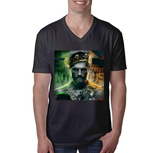 HuXiHuXiHu Camisetas y Tops Hombre Polos y Camisas, Sports Men's T-Shirt Conor Mcgregor. V Neck Short Sleeve tee