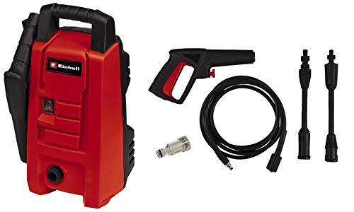 Einhell Hochdruckreiniger TC-HP 90 (1200 W, max. 90 bar, Ausgabe max. 372 L/h, Tragegriff, Wasseranschluss + integrierter Filter, inkl. Pistole, Schlauch, Lanze + Düse)