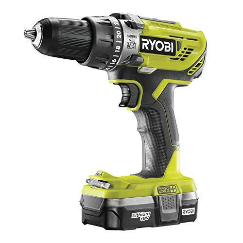 Ryobi R18PD3-113G 18 V ONE+ Cordless Combi Drill Starter Kit (1 x 1.3 Ah)