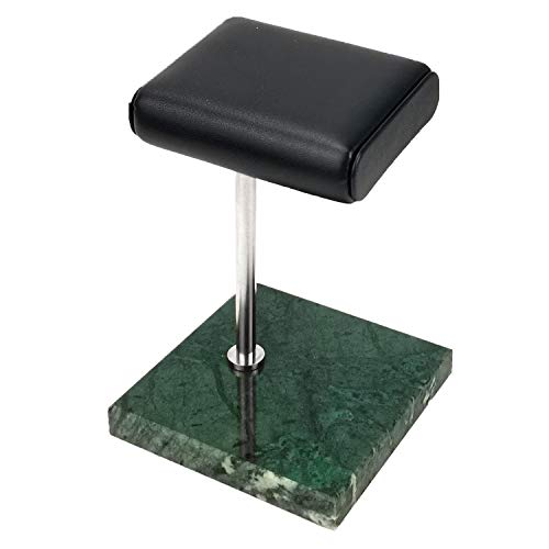 ACAMPTAR Green Marble Silver Support Rod Watch Bracelet Bracelet Display Stand, Leather Jewelry Storage Stand, Watch Stand