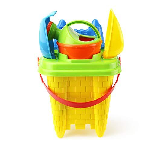 Kinder Sandspielzeug,Duschkopf, Sandrechen, Sandschaufel, Schloss,Set 6 Stück Strandspielzeug Sand Und Wasser Spielzeug Für Jungen Und Mädchen