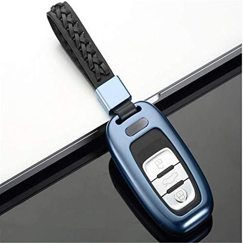Funda de aleación de aluminio para llave de coche, correa de piel de aleación de aluminio, bolsa de almacenamiento para Audi A4L, A5, A6L, A7, A8L, S5, S6, Q5, SQ5, RS5 (D)