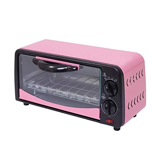 L.BAN Horno eléctrico para Hornear de 6L, tostadora, máquina de panadería para Pizza, Mini Horno multifunción 650W con Temporizador de 15 Minutos para Hornear