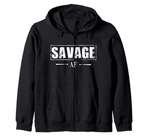 Savage AF Regalo salvaje para hombres mujeres chicas Savage Sudadera con Capucha