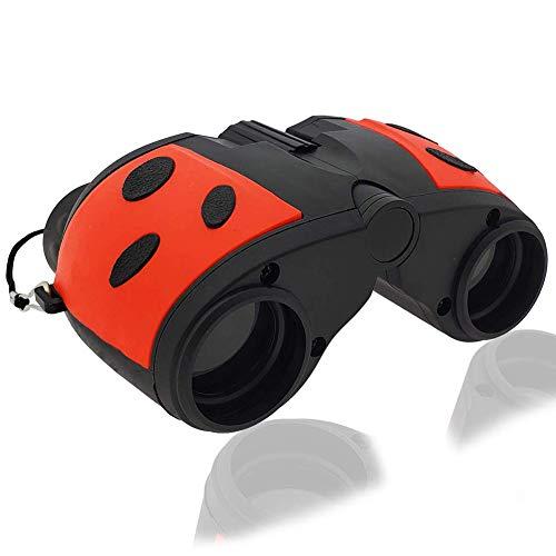 YAN Kinder Fernglas 8x21, Junior Ferngläser Klein, für Vogelbeobachtung Sternbeobachtung Abenteuer Fußballspiel Camping Klettern Sport,Rot