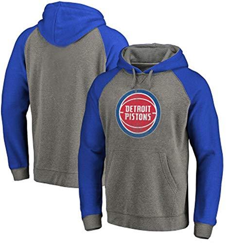 Zxwzzz NBA Detroit Pistons Ball Equipo De Hombres Jersey con Capucha Estampado Ropa Deportiva De Manga Larga For Hombres (Color : Blue, Size : Medium)