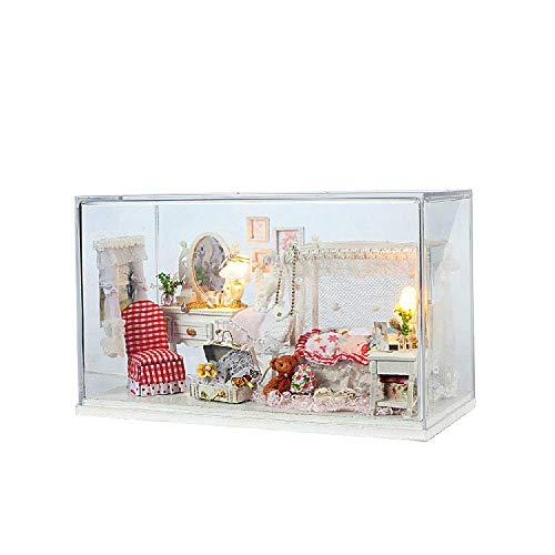 Teyun Handmake DIY casa de muñeca de Playset con Cubierta de Cristal for Regalos de cumpleaños for niños de Navidad