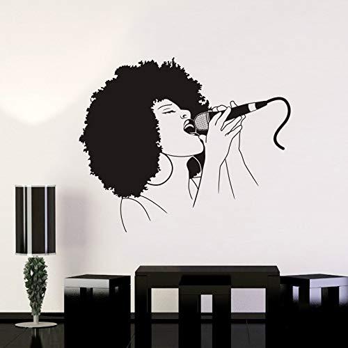 Tianpengyuanshuai muziek zingen muursticker microfoon rok decoratie kinderkamer familie decoratie poster vinyl autosticker