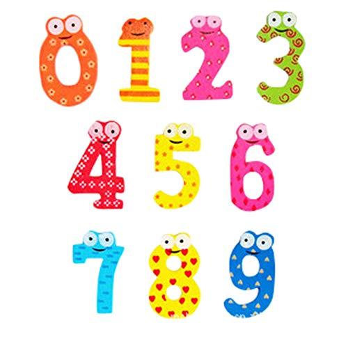 jieGorge Magnetische hölzerne Zahlen Mathe-Set für Kinder Kinder Vorschule Schule, Lernspielzeug, Spielzeug und Hobbys für Ostertag (Multicolor)