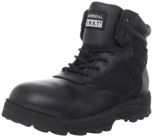 Original S.W.A.T. Men's Classic 6 Inch Waterproof Side-zip Safety Tactical Boot, Black, 11.5 D US