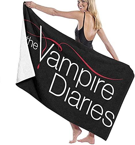 J-LIFE The Vampire Diaries Strandtuch,Vampire Diaries Strandtücher,Damon Salvatore Strandlaken Handtuch,Schwimmbadtuch (Vampire-3,75cmx150cm)