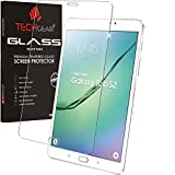TECHGEAR Vetro Temperato Compatibile con Il Samsung Galaxy Tab S2 8.0 Pollici (SM-T710) - Autentica Pellicola protecttiva in Vetro Temperato Salvaschermo
