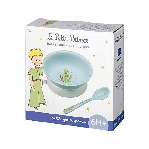 Petit Jour Paris - PP702P - Coffret bol ventouse et cuillère bleu Le Petit Prince - pour ne pas le renverser