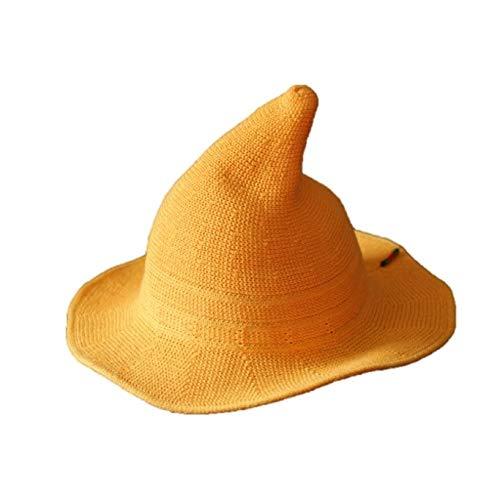 Ai Collection イエロー とんがり帽子 魔法使い キャップ コットン 子供54cm マスキングテープ1個付