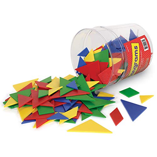 Learning Resources Classpack Tangrams, Math Manipulative, Geometric Shapes, Puzzle, 4 Colors, Ages 5+