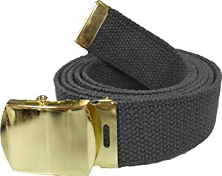 "Army Web Belt 100% Cotton Canvas Military Color Belts 54"" Long"