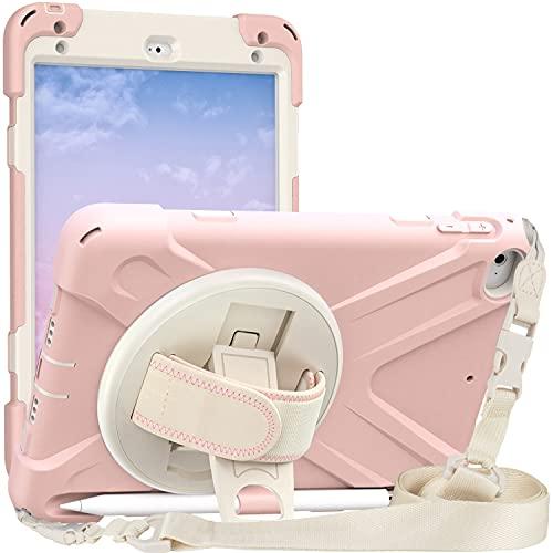 LGQ Carcasa Protectora para iPad Mini, Carcasa Protectora A Prueba Golpes Carcasa Protectora Resistente Y Duradera De Cuatro Capas, Adecuada para Apple iPad Mini4 / 5 2019 Funda Protectora,Rosado