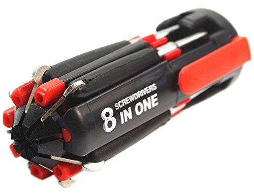 Gadget Deals 8 in 1 Multi Screwdriver with LED Portable Torch