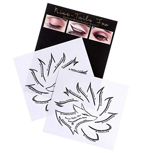 Yooyg Plantilla profesional de delineador de ojos, juego de plantillas de sombra de ojos, kit de plantillas de delineador de ojos no tejido, plantillas de sombra de ojos para principiantes