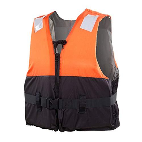 HE TUI 75N Auftriebsweste für Windsurfen Paddle Board Segeln Wassersport Wasserski, Schwimmweste mit Einstellschnalle, Reflexstreifen und Frontreißverschluss,Orange,L