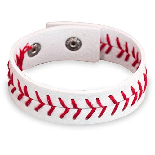 Authentic Baseball Leather Bracelet | Baseball Jewelry by ChalkTalkSPORTS