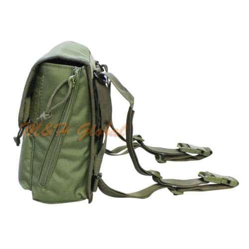Large Utility Binocular Pouch Bird Watching Hunting Camping MOLLE PALS - Black