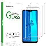 (3 Pack) Beukei Compatible for Huawei Y9 2019 Screen Protector Tempered Glass,Full Screen Coverage, Touch Sensitive,Case Friendly, 9H Hardness