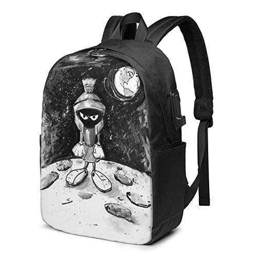 IUBBKI USB-Rucksack Computertasche Men Women Packable Backpack with USB Charging Port, Durable Big capacity Work Bag, Book Bags Daypack for Outdoor Collegem Camp, Cartoons Anime Mar-vin The Mar-tian