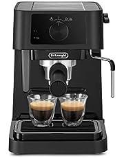 De'Longhi EC 230.BK Süzgeç Taşıyıcı Süt Köpürtme Başlıklı Geleneksel Süzgeç Makinesi, Espresso Toz için, 15 bar, 1,0 l, Siyah