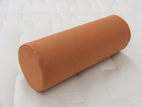Schaumstoffrolle Nackenrolle Gymnastikrolle Lagerungsrolle Rolle aus Schaumstoff mit Bezug (Länge: 40cm Ø 15cm, Microfaser sand)