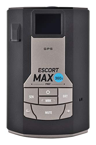 Escort MAX360C Laser Radar Detector - WiFi and Bluetooth Enabled, 360° Protection, Extreme Long Range, Voice Alerts, OLED Display, Live