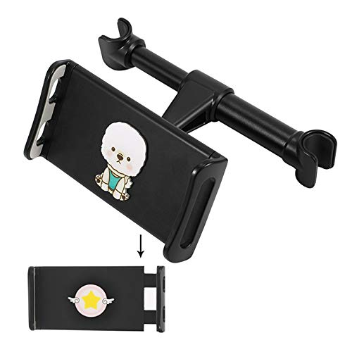 Tablet Holder Back Seat Stand Cradle, Car Tablet Headrest Mount Universal 360° Rotating Can Be Placed in The Middle for All 4.5~10.5' Tablets, Pad,C