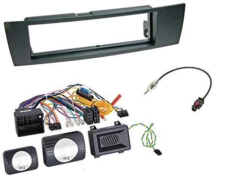 1 Din Radio inbouwset met stuurwielafstandsbediening voor BMW 3-serie E93 (Cabrio) 03/2007-09/2013 zwart 40 Pin Fakra