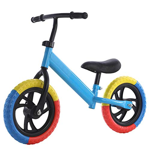 QHY 12 Pulgadas Niños Bicicleta De Equilibrio Niño Bicicleta Equilibrio Bicicleta por 2-7 Años Viejo Niños Aprendiendo Caminante Exterior Deportes No Pedal Bicicleta (Color : Blue)