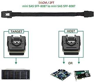 Internal Mini SAS SFF-8087 to Mini SAS SFF-8087 Mini SAS Cable, 1.8 FT / 56 cm