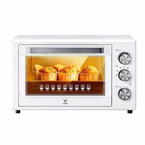 Dpliu Toaster Horno, Freidora de Aire Mini Hornos eléctricos Pizza Bake Microondas Cocina Horno Air Grill Control Inteligente 32L Estufa con Parrilla Halógena Hornos Aire Freidora