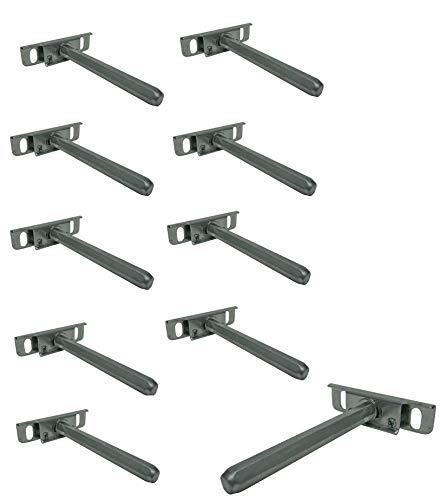 10 x Regalträger Regalbodenträger Tablarträger Halterung Regalhalterung Regalhalter unsichtbar SAMWERK®