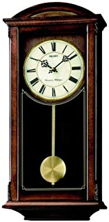 Seiko QXH030B Westminster/Whittington Dual Chime Wall Clock with Pendulam, Brown, 1 x 1 x 1 cm