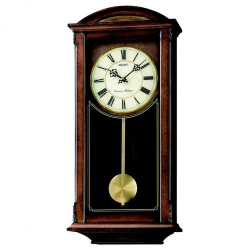 Seiko QXH030B Westminster/Whittington-Reloj de Pared con péndulo, marrón, 1 x 1 x 1 cm