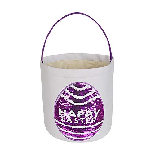 SmallYin Canasta de Almacenamiento Creativa de Huevos/Conejos de Pascua, Canasta de Tela de Animales Lindos, Canasta de Compras de Regalo de Dulces para NiñOs de Vacaciones, DecoracióN de Pascua